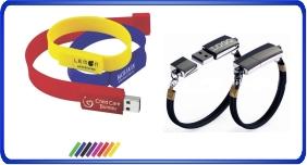 Clés USB personnalisé, Bracelet en silicone avec clés usb intégré
