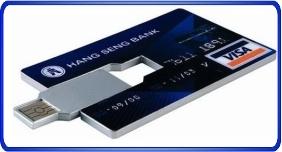Clés USB personnalisé, clés usb en forme de carte de crédit ou carte d'affairec clés usb intégré
